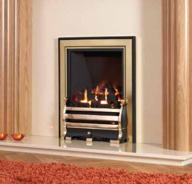 Kohlangaz Delamere - 4 kw, Slide Control, Natural Gas, Standard Polished Silver Trim