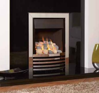 Kohlangaz Delamere Plus - 5 Kw, Manual Control, Natural Gas, Arcadia Cast Iron Silver Facia