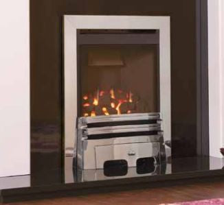 Kohlangaz Durlston - 4 kw, Easy Flame Control, Natural Gas, Arcadia Cast Iron Silver Facia