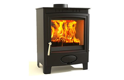 Aarrow Ecoburn Plus 7 - Non-Boiler Stove, Free Standing, Solid Fuel, 7 Kw, Matt, No External Air, Steel