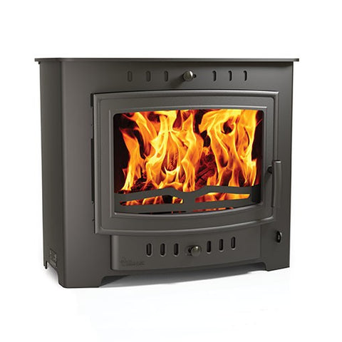 Villager Esprit 10 Solo - Non-Boiler Stove, Free Standing, Solid Fuel, 10 Kw, Matt, Black, No External Air