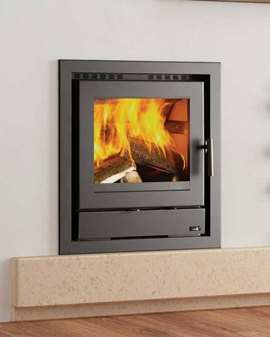 Henley Faro 500 - Non-Boiler Stove, Solid Fuel, 8 Kw, Matt, 50 mm, 4 Sided, Black, No External Air