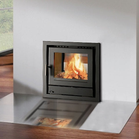 Henley Faro 600 Double Sided - Non-Boiler Stove, Inset, Solid Fuel, 10 Kw, Double Sided, Matt, 50 mm, 4 Sided, Black, No External Air