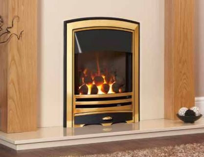 Kohlangaz Gosford HE - 4 kw, Manual Control, Natural Gas, Standard Brushed Silver Trim