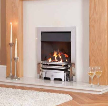 Kohlangaz Gosford Plus - 5 Kw, Easy Flame Control, Natural Gas, Standard Polished Silver Trim