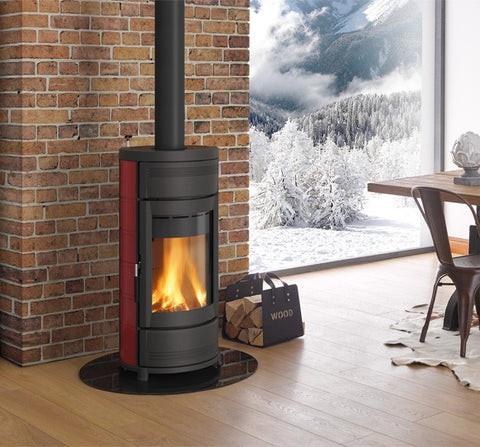 La Nordica Helga 7kw - Non-Boiler Stove, Free Standing, Wood Only, 7 Kw, Matt, Natural Stone