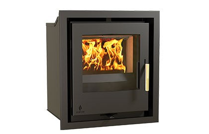 Aarrow i400S - Inset, Solid Fuel, 5 Kw, Matt, 50 mm, 3 Sided