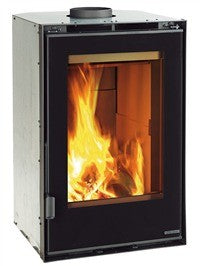 Inserto 50 Verticale Crystal Ventilato 8kw - No, Insert, Wood Only, 8 Kw
