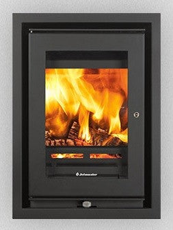 Jetmaster 16i - Non-Boiler Stove, Inset, Solid Fuel, 5 Kw, Matt, 3 Sided, Black, External Air