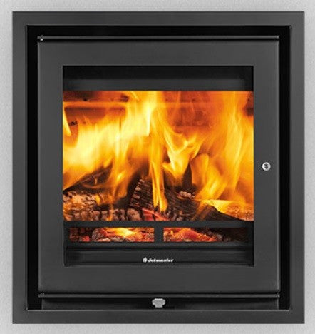 Jetmaster 50i - Non-Boiler Stove, Inset, Solid Fuel, 6 Kw, Matt, 3 Sided, External Air