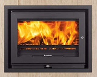 Jetmaster 60i Low - Non-Boiler Stove, Inset, Solid Fuel, 6 Kw, Matt, 4 Sided, External Air