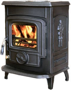 Mulberry Joyce - Non-Boiler Stove, Free Standing, Solid Fuel, 7 Kw, Matt, Black, No External Air