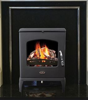 Henley Killybeg - Inset, Solid Fuel, 8 Kw, Matt, Black