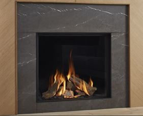 Dru Maestro 75 - 9 Kw, Remote Control, Natural Gas, Black Ceraglass, Anti-reflective Glass