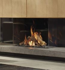 Dru Maestro 80/3 - 9 Kw, Remote Control, Natural Gas, Black Smooth, Anti-reflective Glass