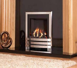 Kohlangaz Marbury - Inset, 4 kw, Manual Control, Natural Gas, Embrace Cast Iron Silver Fascia