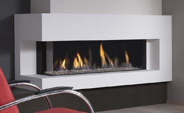Dru Metro 130XT/2 - 10 Kw, Remote Control, Natural Gas, Black Ceraglass, Standard Glass, Right
