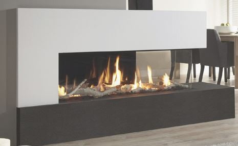 Dru Metro 130XTL - 10 Kw, Remote Control, Natural Gas, Black Ceraglass, Standard Glass, Right