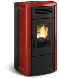 Extraflame Novella - No, Free Standing, 11-13 Kw, Red