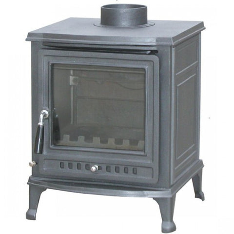 Mazona Olive 6kw - Non-Boiler Stove, Free Standing, Solid Fuel, 6 Kw, Matt, Black