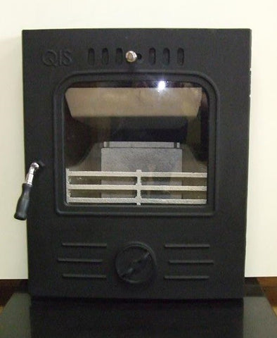 Mulberry QIS Inset Stove (Boiler) - Boiler Stove, Inset, Solid Fuel, 11-13 Kw, Enamel, Cream, No External Air