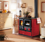 La Nordica Rosa - Free Standing, Wood Only, 7 Kw, Red