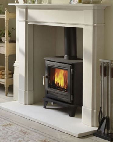 Chesney Salisbury 5 - Non-Boiler Stove, Free Standing, Solid Fuel, 5 Kw, Matt, Black, No External Air, Log Box