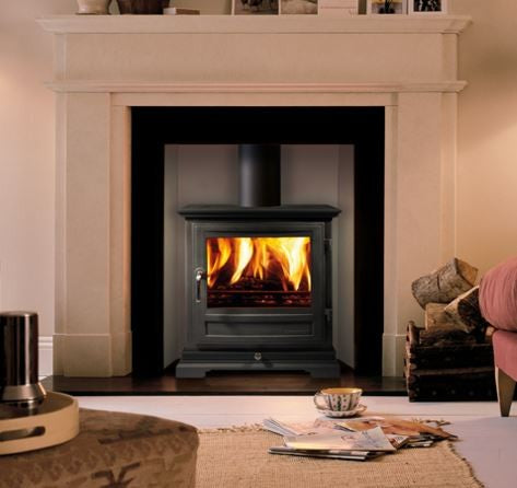 Chesney Shipton 8 - Non-Boiler Stove, Free Standing, Solid Fuel, 8 Kw, Matt, Black, No External Air