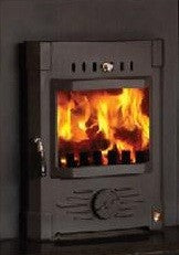 Mulberry Stoker 10kw Inset Stove - Non-Boiler Stove, Inset, Solid Fuel, 10 Kw, Matt, Black, No External Air