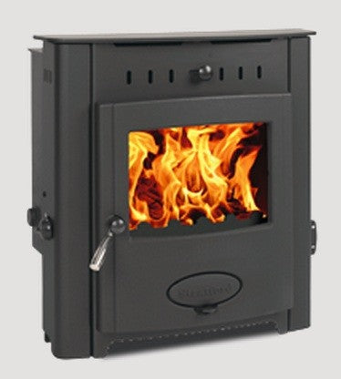 Stratford EB12HEi - Boiler Stove, Inset, Solid Fuel, 17-20 Kw, Matt, Black, No External Air