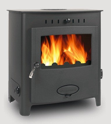 Stratford EB16HE - Boiler Stove, Free Standing, Solid Fuel, 21-25 Kw, Matt, Black, External Air