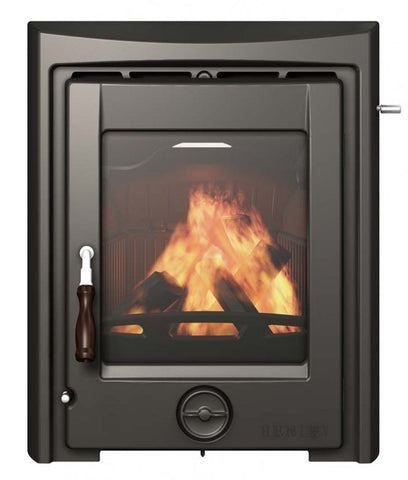 Henley Apollo 5kw - Non-Boiler Stove, Inset, Solid Fuel, 5 Kw, Enamel, Black, No External Air