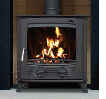 Henley Druid 20kw Double Sided - Non-Boiler Stove, Free Standing, Solid Fuel, 17-20 Kw, Double Sided, Matt, Black, No External Air