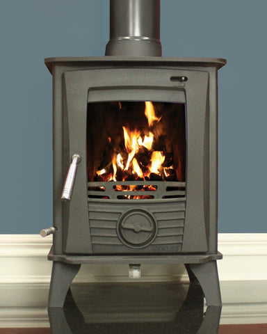 Henley Druid 5kw - Non-Boiler Stove, Free Standing, Solid Fuel, 5 Kw, Matt, Black, No External Air