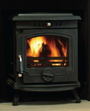 Henley Skellig - Non-Boiler Stove, Free Standing, Solid Fuel, 8 Kw, Matt, Black, No External Air