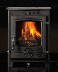 Henley Thames 4.5kw Slimline - Non-Boiler Stove, Free Standing, Solid Fuel, 5 Kw, Matt, Black, No External Air
