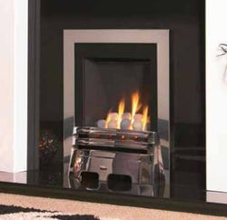 Kohlangaz Thetford - 4 kw, Manual Control, Natural Gas, Arcadia Cast Iron Gold Fascia