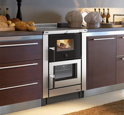 La Nordica Vicena Cooker - Non-Boiler Stove, Wood Only, 8 Kw, Black