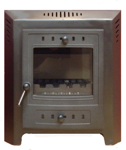 Villager Athlone 6 - Non-Boiler Stove, Inset, Solid Fuel, 7 Kw, Matt, Black, No External Air