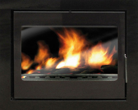 Heat Design Vitae 11kw - Non-Boiler Stove, Inset, 11-13 Kw, Glass Fronted, 30 mm, 3 Sided, Black, No External Air
