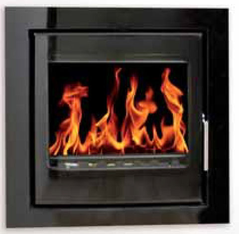 Heat Design Vitae 9kw - Non-Boiler Stove, Inset, Solid Fuel, 9 Kw, Matt, 30 mm, 3 Sided, Black, No External Air