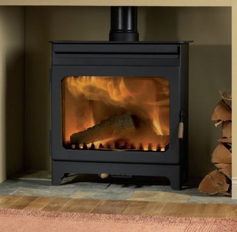 Burley Wakerley - Non-Boiler Stove, Free Standing, Wood Only, 11-13 Kw, Matt, Black, External Air, No Log Box