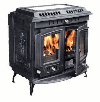 Mulberry Wilde - Boiler Stove, Free Standing, Solid Fuel, 11-13 Kw, Matt, Black, No External Air