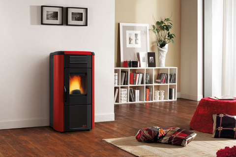 Extraflame Viviana EVO PLUS - Wood Pellet, Free Standing, Red/Black/Cream 11.4 kW