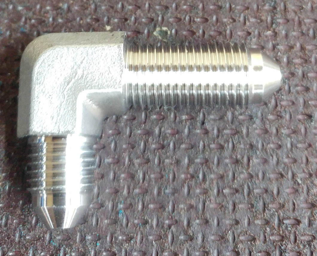 Stainless Steel Bulkhead Brake Fitting 90° 3 8