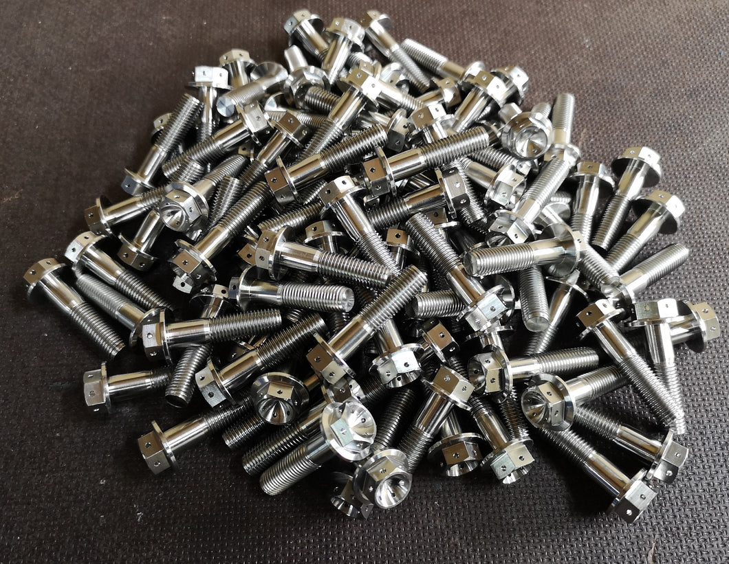 M10 x 1.25 x 40 Hex Head Titanium Flange Head Bolt