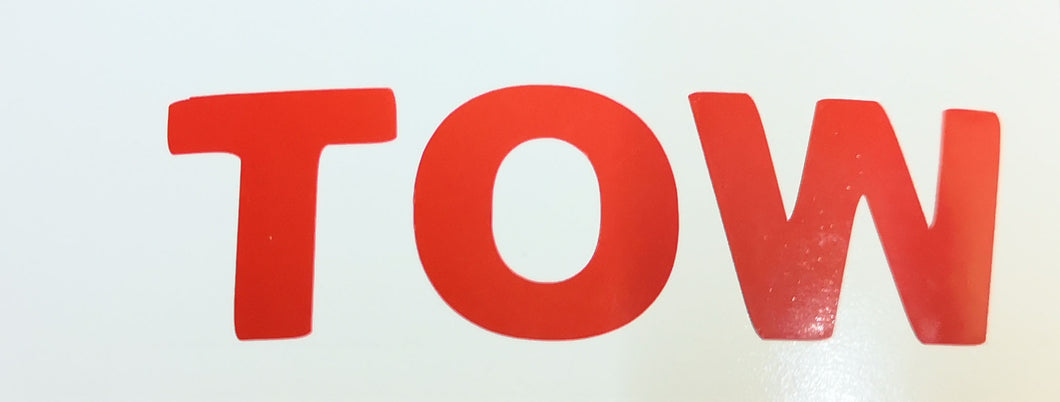 Tow Sticker For Motorsport Race & Rally