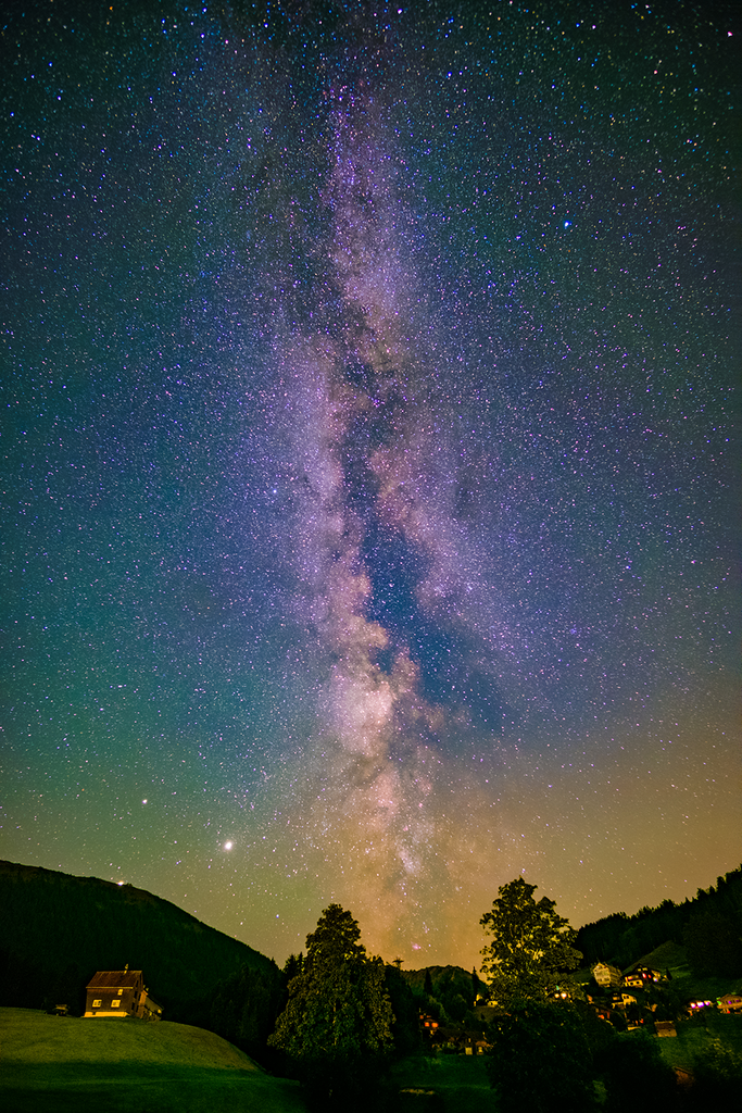 MILKYWAY IN APPENZELL poster