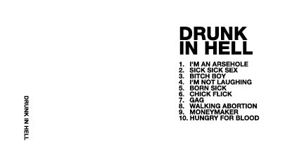 Drunk In Hell S/T cd now available for pre-sale