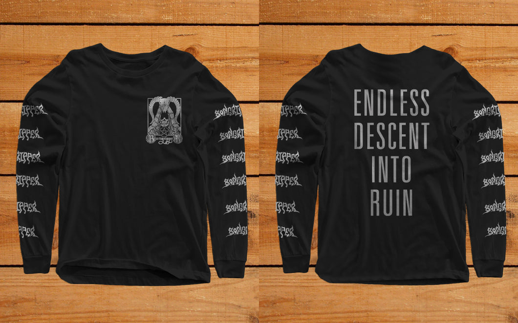 Bongripper ENDLESS DESCENT INTO RUIN Long sleeve shirt - Roadburn / Burning World Mailorder